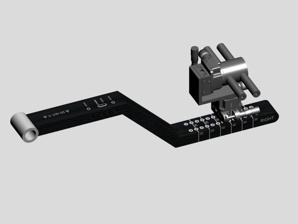 Dispositivo elettromeccanico per l'individuazione delle coordinate dei fori di bloccaggio nei chiodi endomidollari del femore