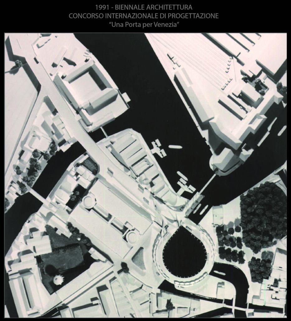 """Piazzale Roma_1991 Biennale di Architettura_Concorso internazionale di progettazione """"Una porta per Venezia"""""""